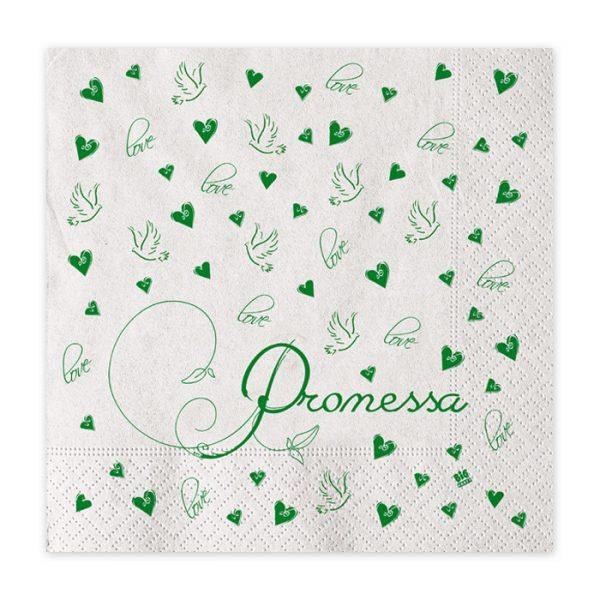 20 Tovaglioli 33 x 33 cm Promessa Love