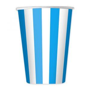 8 Bicchieri 200 cc Stripes Turchese