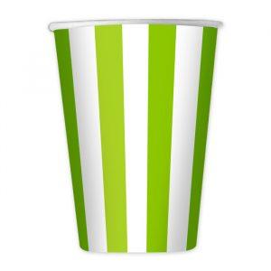 8 Bicchieri 200 cc Stripes Verde Mela