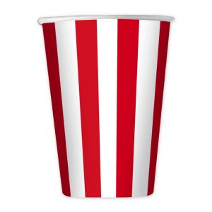 8 Bicchieri 200 cc Stripes Rosso