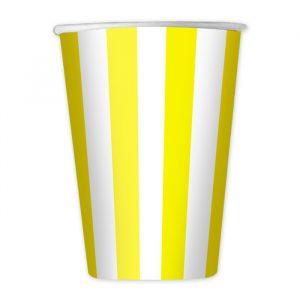 8 Bicchieri 200 cc Stripes Giallo