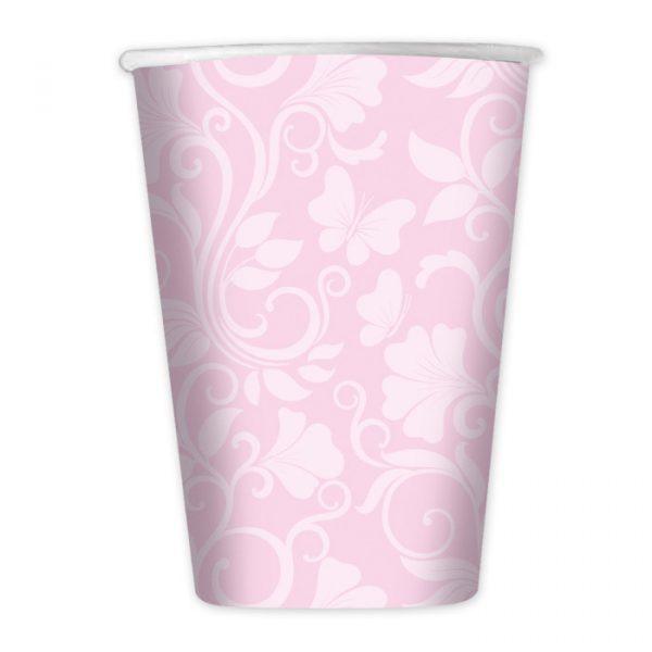 8 Bicchieri 200 cc Celebrity Rosa