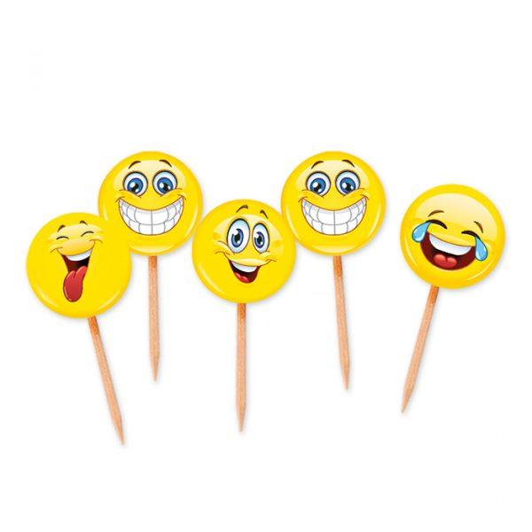 25 Picks Sagomati 4 x 7 cm Emoticons