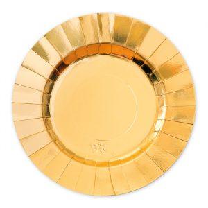 8 Piatti Ø 25 cm Gourmet Gold