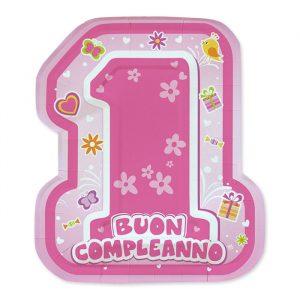 8 Piatti 21 x 25 cm One Pink