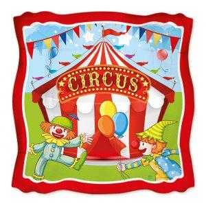 8 Piatti 24 x 24 cm Circus Party