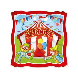 8 Piatti 19 x 19 cm Circus Party