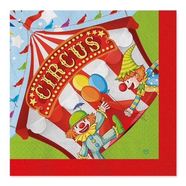20 Tovaglioli 33 x 33 cm Circus Party