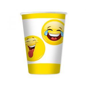 8 Bicchieri 200 cc Emoticons