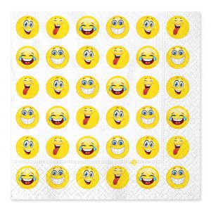20 Tovaglioli 33 x 33 cm Emoticons