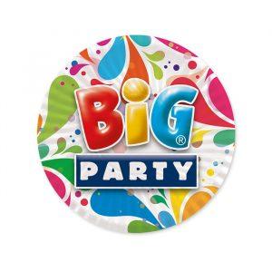 8 Piatti Ø 18 cm Big Party