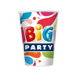 8 Bicchieri 200 cc Big Party