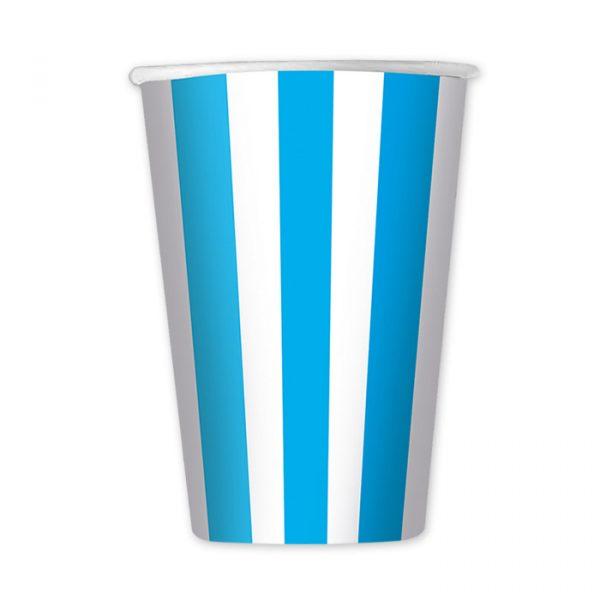 6 Bicchieri 470 cc Stripes Turchese