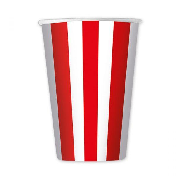 6 Bicchieri 470 cc Stripes Rosso