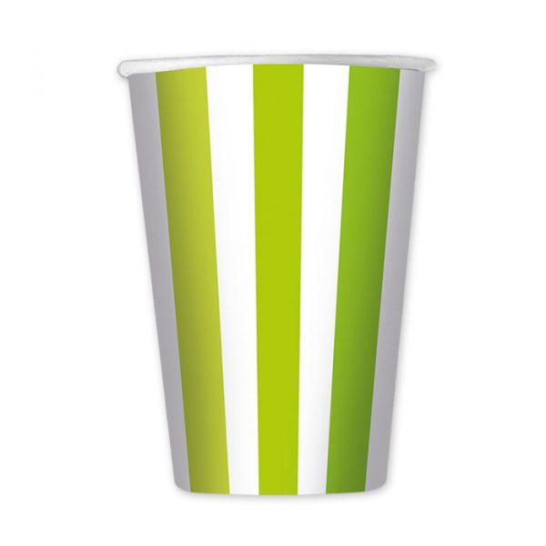 6 Bicchieri 470 cc Stripes Verde Mela