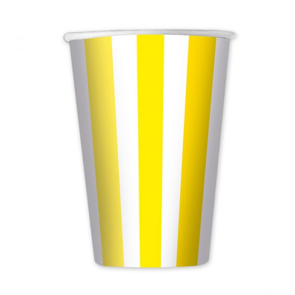 6 Bicchieri 470 cc Stripes Giallo