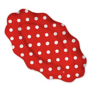 3 Raviere 36 x 20 cm Pois Rosso