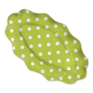 3 Raviere 36 x 20 cm Pois Verde Mela