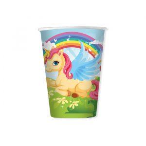 8 Bicchieri 200 cc Unicorni