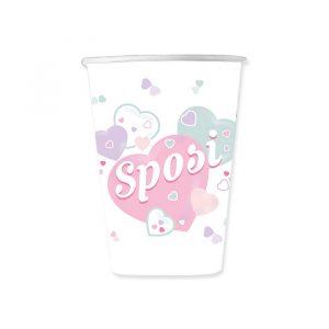 8 Bicchieri 200 cc Sposi
