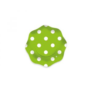 8 Coppette Ø 16 cm  Pois Verde Mela