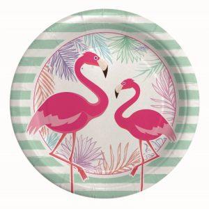 8 Piatti Ø 24 cm Flamingo Party