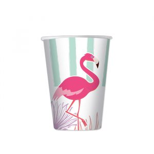 8 Bicchieri 200 cc Flamingo Party
