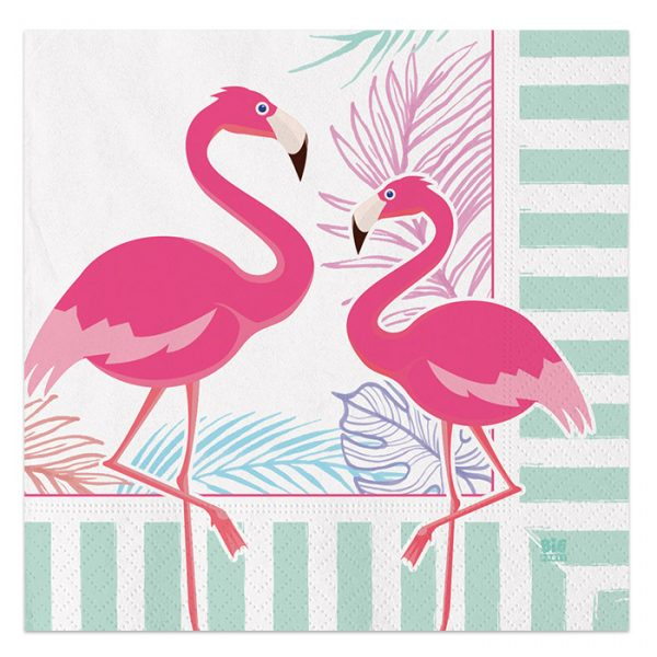 20 Tovaglioli 33 x 33 cm Flamingo Party