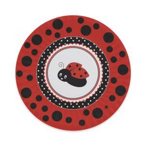 8 Piatti Ø 24 cm Coccinella