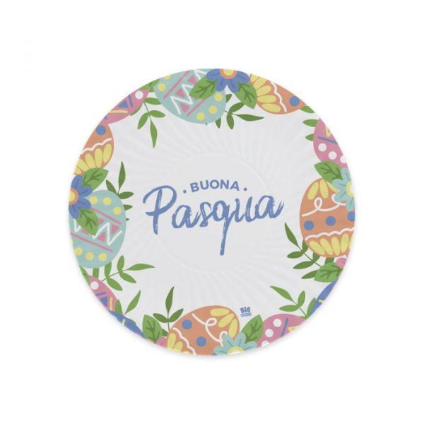 8 Piatti Ø 18 cm Buona Pasqua