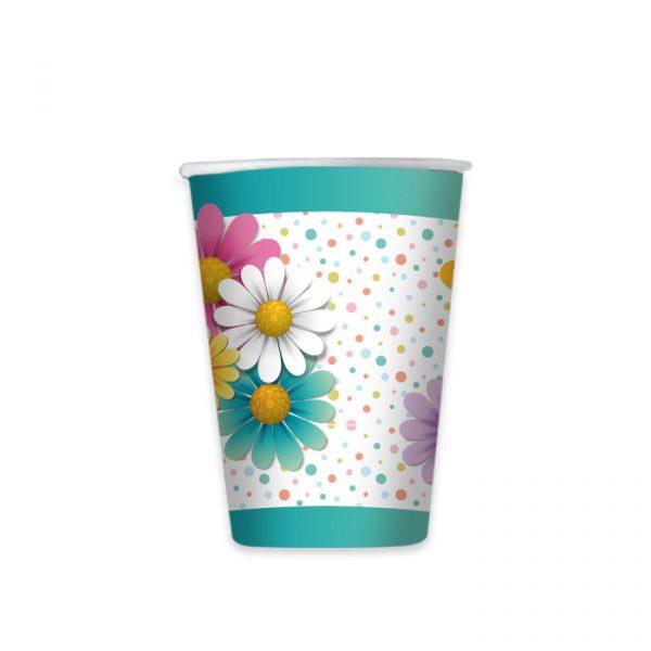 8 Bicchieri 200 cc Flowers