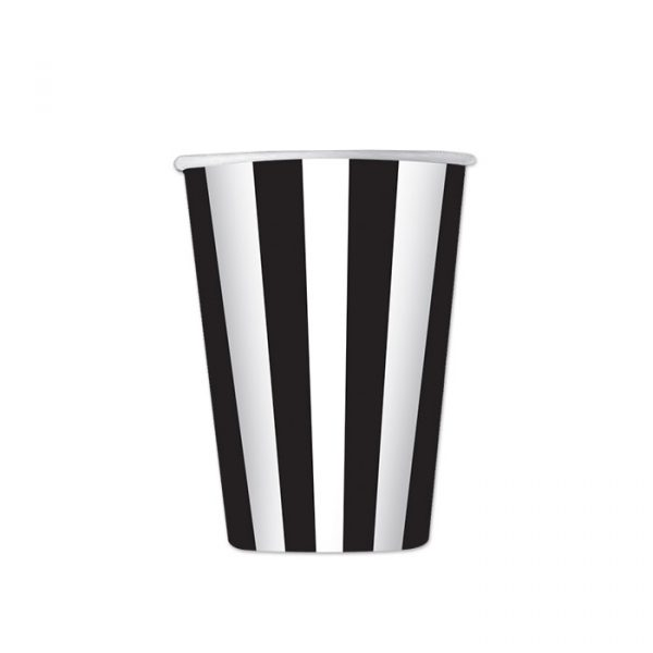 6 Bicchieri 470 cc Stripes Nero