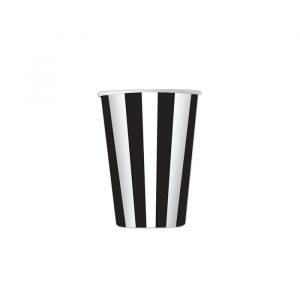 8 Bicchieri 200 cc Stripes Nero
