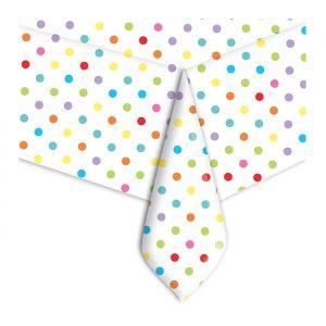 Tovaglia in plastica 140 x 270 cm Pois Multicolor