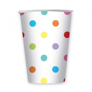 6 Bicchieri 470 cc Pois Multicolor