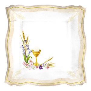 8 Piatti 24 x 24 cm Communion Prestige