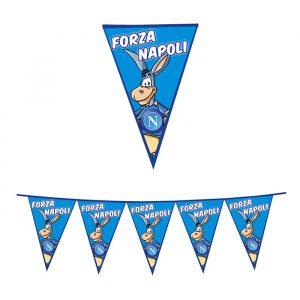 Festone Bandierine in Plastica 600 x 25 cm Forza SSC Napoli