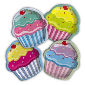 8 Piatti MIX 19 x 21 cm Cupcake