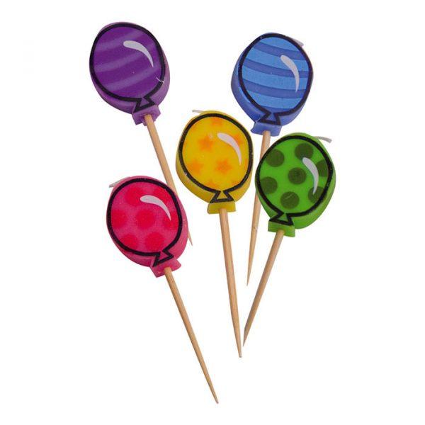 5 Candeline Picks 7 cm Balloons