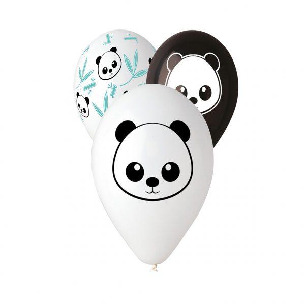 """50 Palloncini in Lattice All Around 12"""" Panda"""