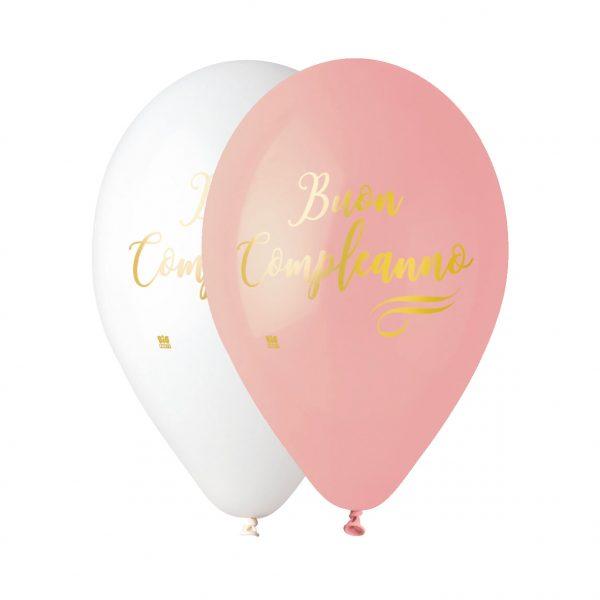"""50 Palloncini in Lattice All Around 12"""" Buon Compleanno Chic Rosa"""