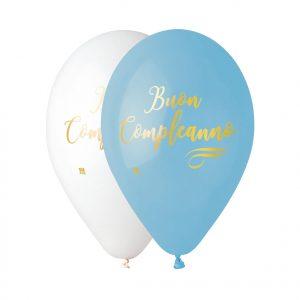 """50 Palloncini in Lattice All Around 12"""" Buon Compleanno Chic Celeste"""