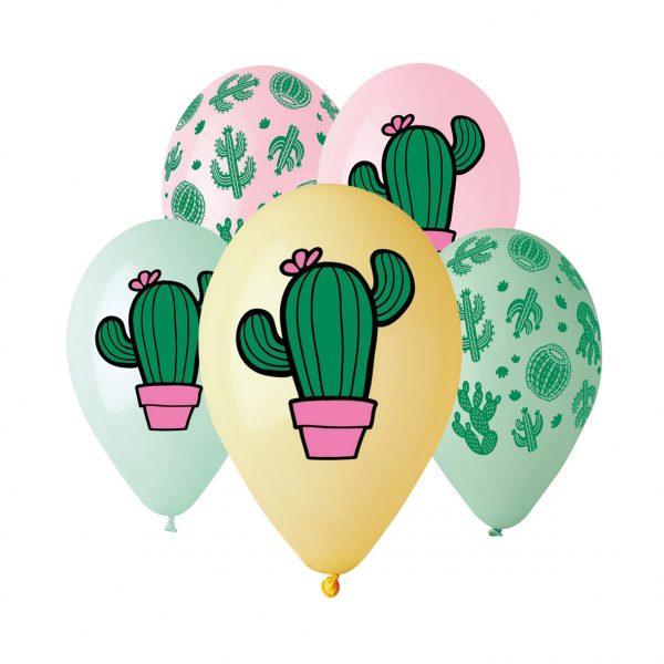 """50 Palloncini in Lattice All Around 12"""" Cactus"""