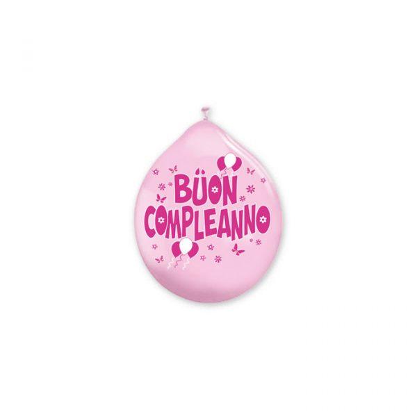 """20 Palloncini in Lattice 10"""" Buon Compleanno Rosa"""