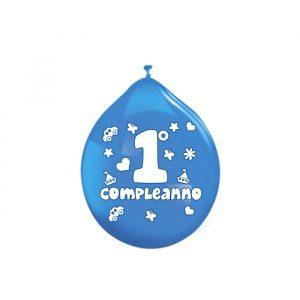 """20 Palloncini in Lattice 10"""" Primo Compleanno Celeste"""