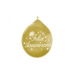 """20 Palloncini in Lattice 10"""" Anniversario Oro Metal"""