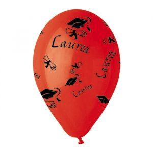 "100 Palloncini in Lattice All Around 12"" Laurea"