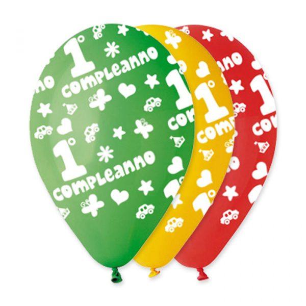 """100 Palloncini in Lattice All Around 12"""" Primo Compleanno Assortiti"""