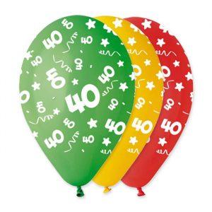 """100 Palloncini in Lattice All Around 12"""" 40 Anni Assortito"""