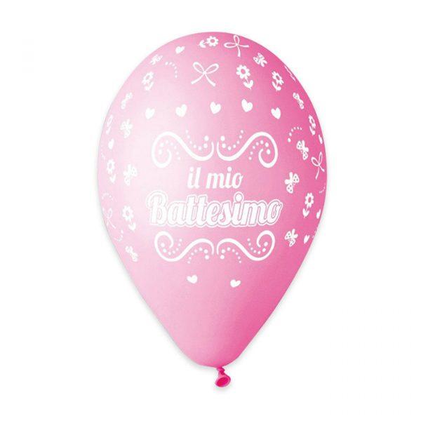 """50 Palloncini in Lattice All Around 12"""" Battesimo Rosa"""